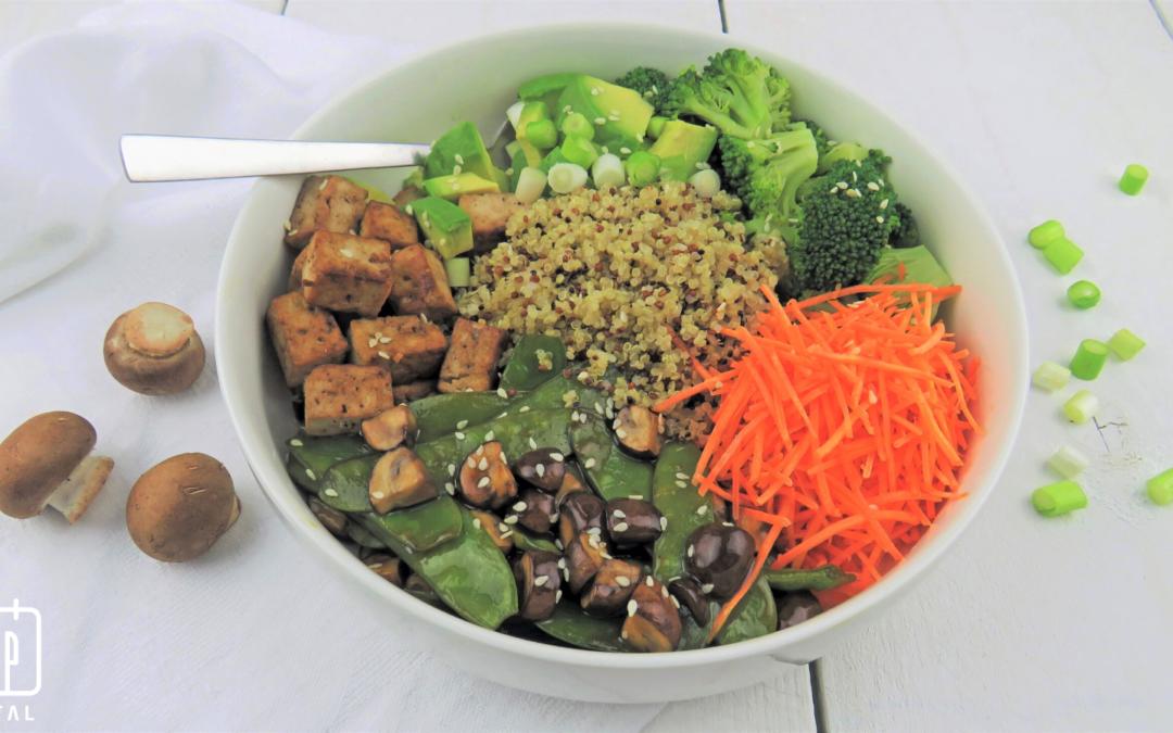Teriyaki quinoa bowl