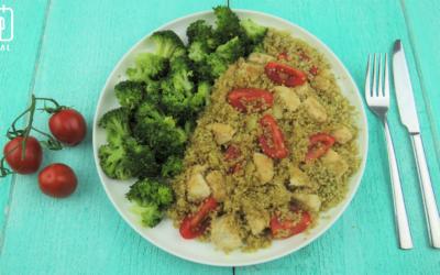 Kip met quinoa, tomaat en broccoli